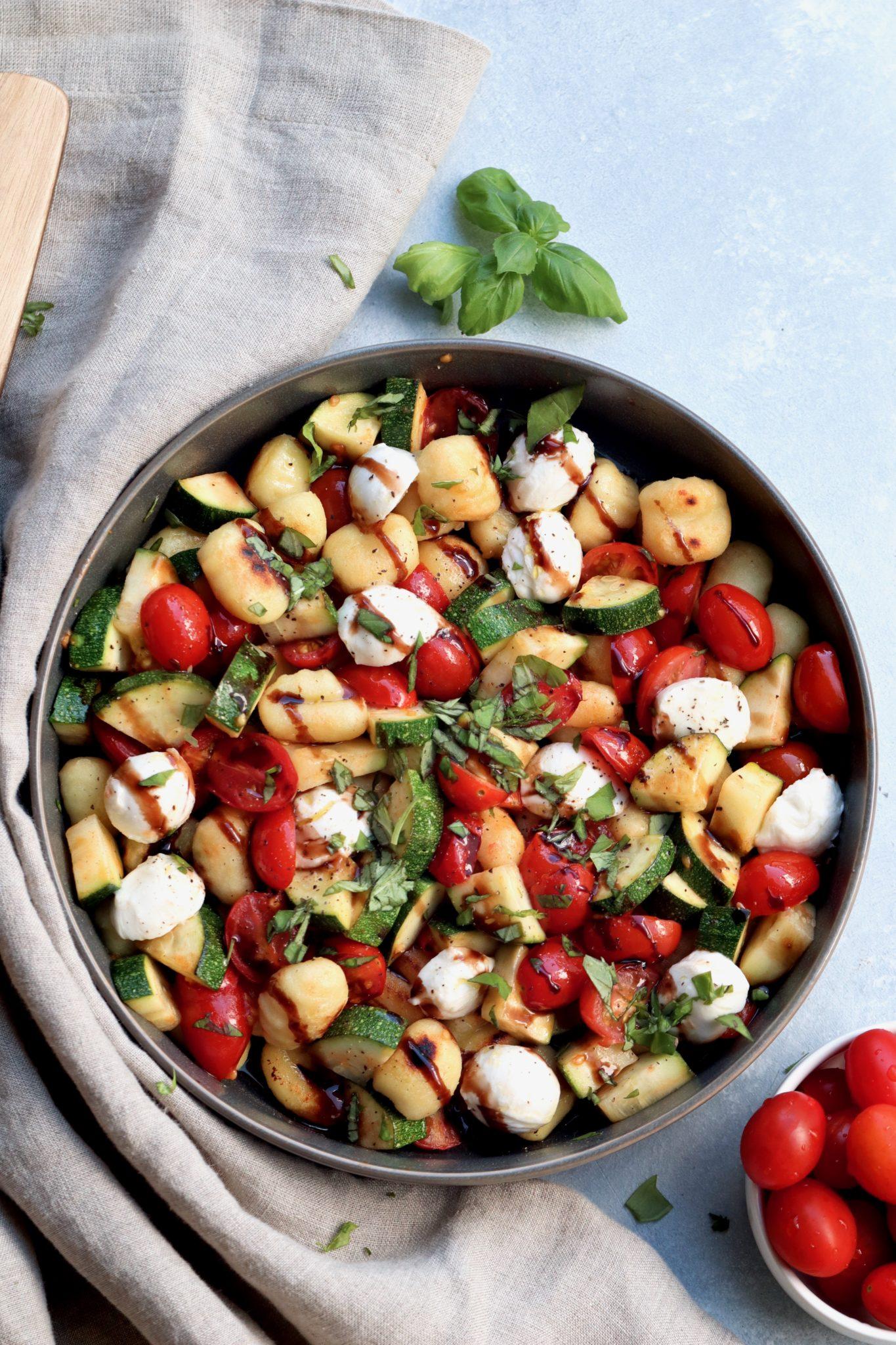 caprese-style skillet gnocchi // cait's plate