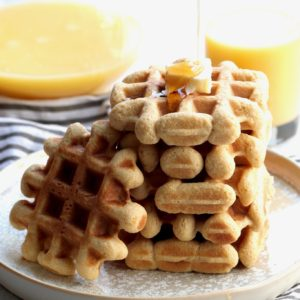 whole grain oj bliss waffles // cait's plate