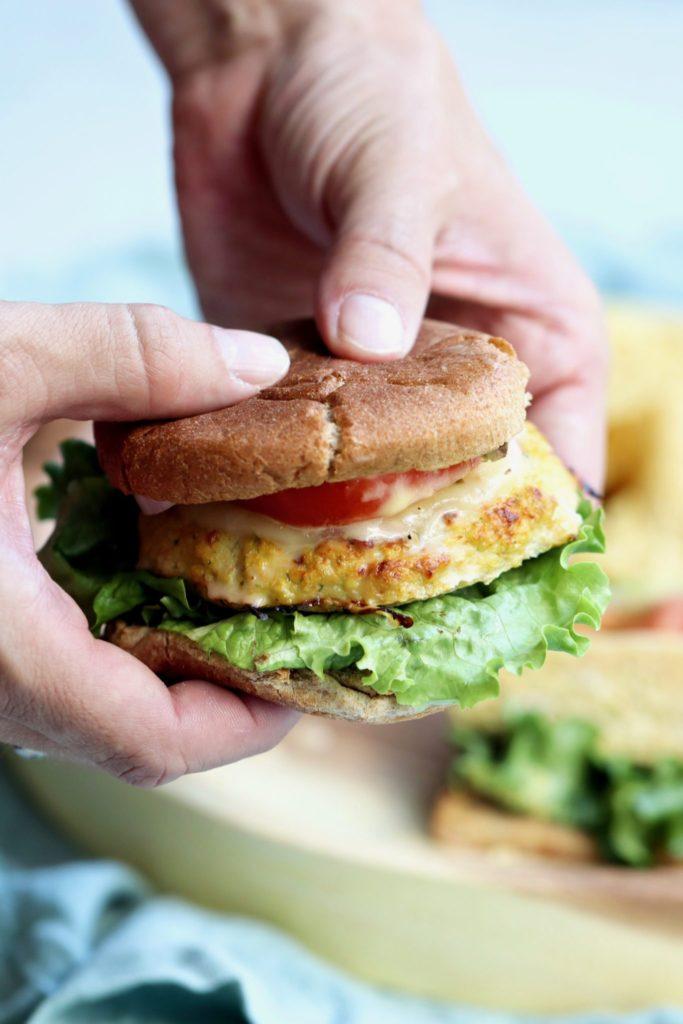 sneaky veggie turkey burgers // cait's plate