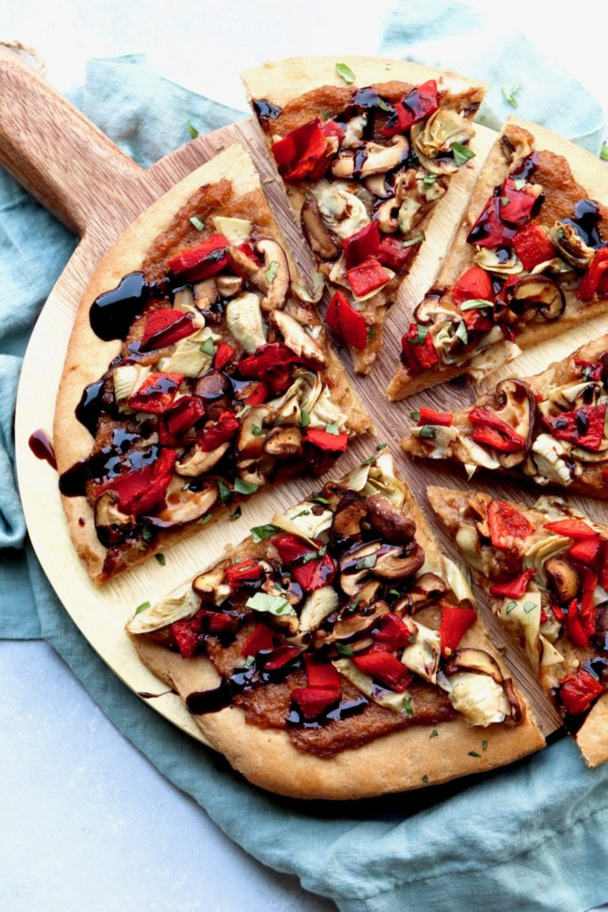 vegan roasted vegetable pizza (aka - my take on amy's) // cait's plate