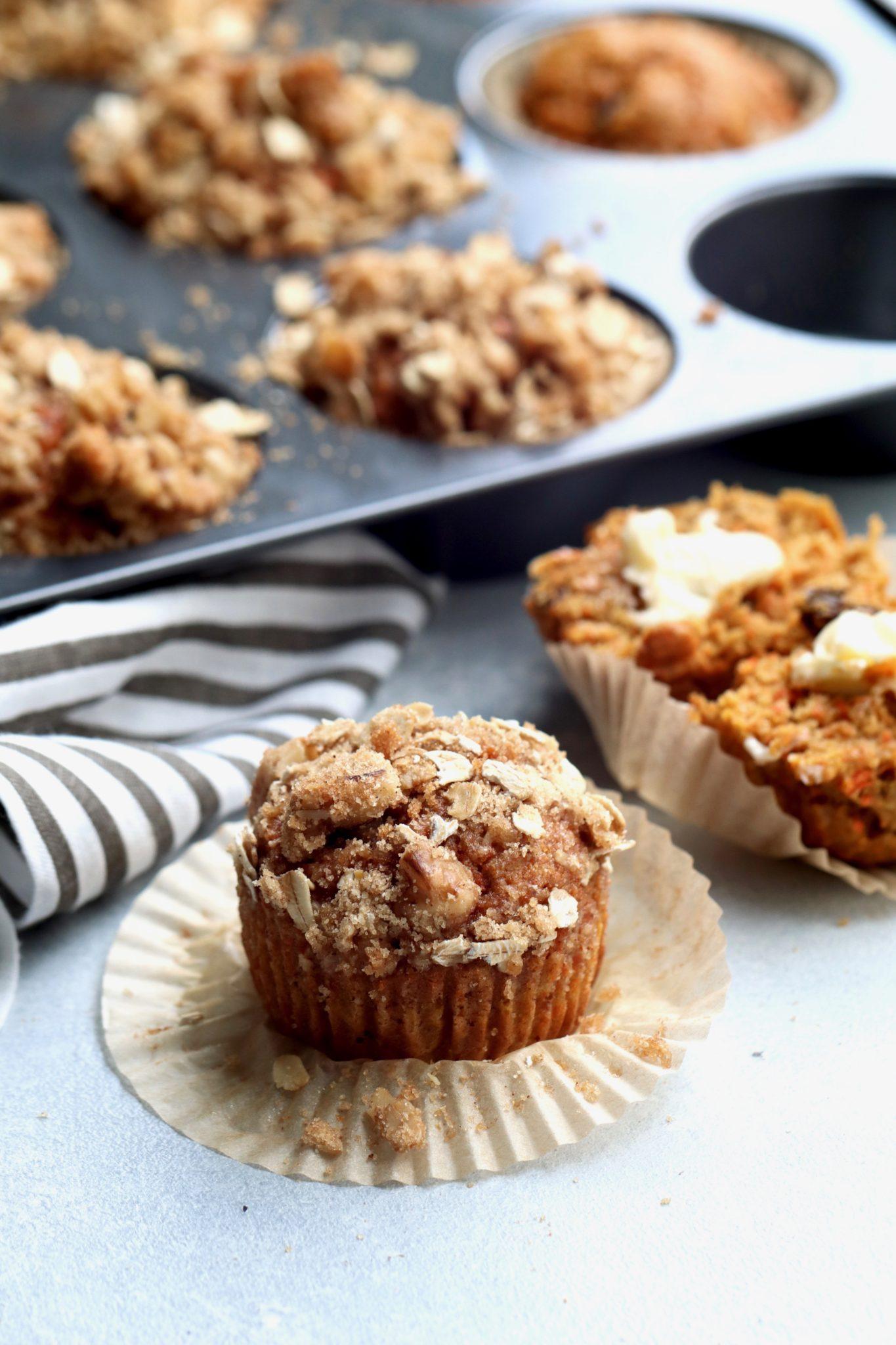 whole wheat carrot, apple, raisin muffins // cait's plate