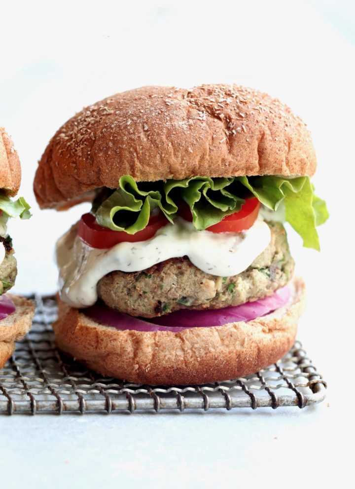 greek-style turkey burgers // cait's plate