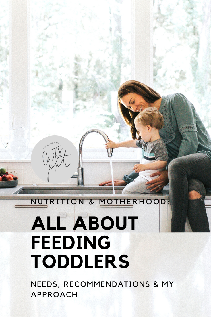 all about feeding toddlers // cait's plate