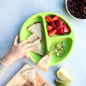 kid-friendly veggie, bean & cheese quesadillas // cait's plate