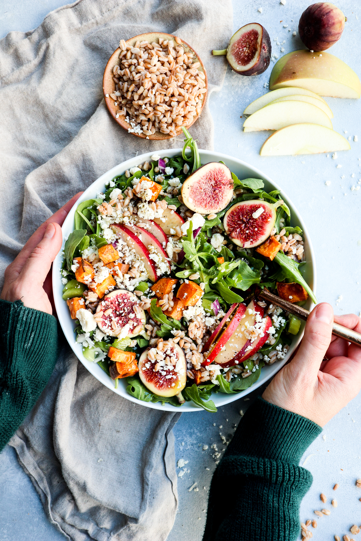 harvest bounty salad // cait's plate