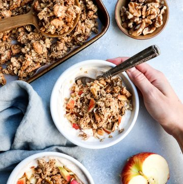 big cluster apple pie granola // cait's plate