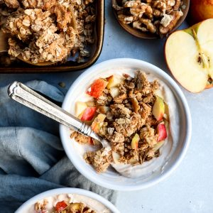 big cluster apple pie granola // cait's plate