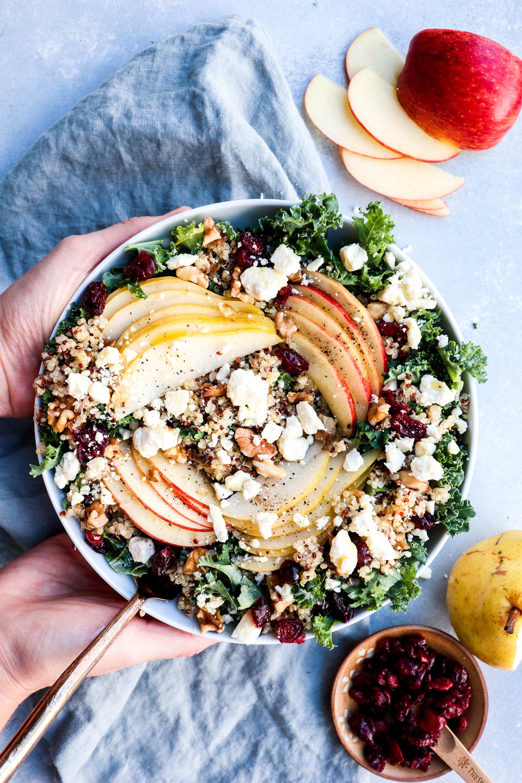 autumn kale & quinoa salad // cait's plate