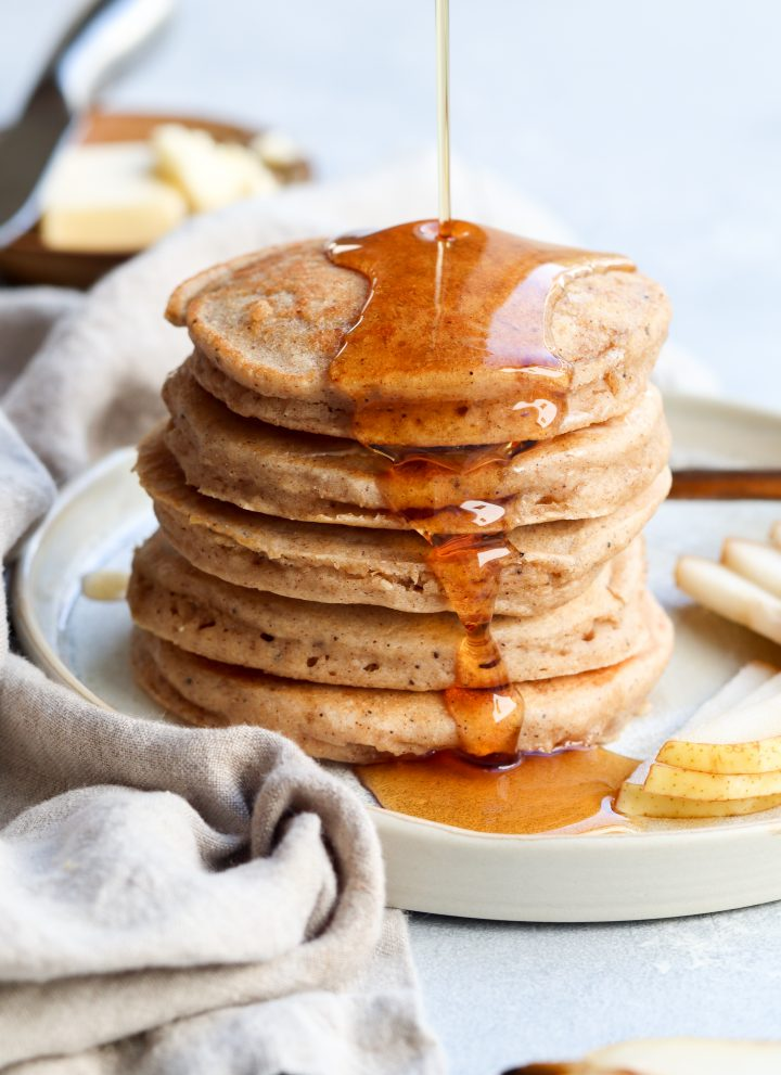 whole grain spiced pear pancakes // cait's plate