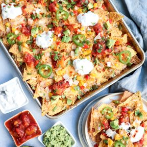 aloha sheet pan nachos // cait's plate