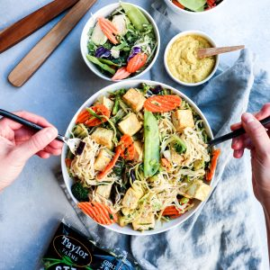 coconut curry & tofu ramen noodle bowl // cait's plate