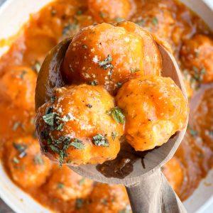 pumpkin turkey meatballs // cait's plate