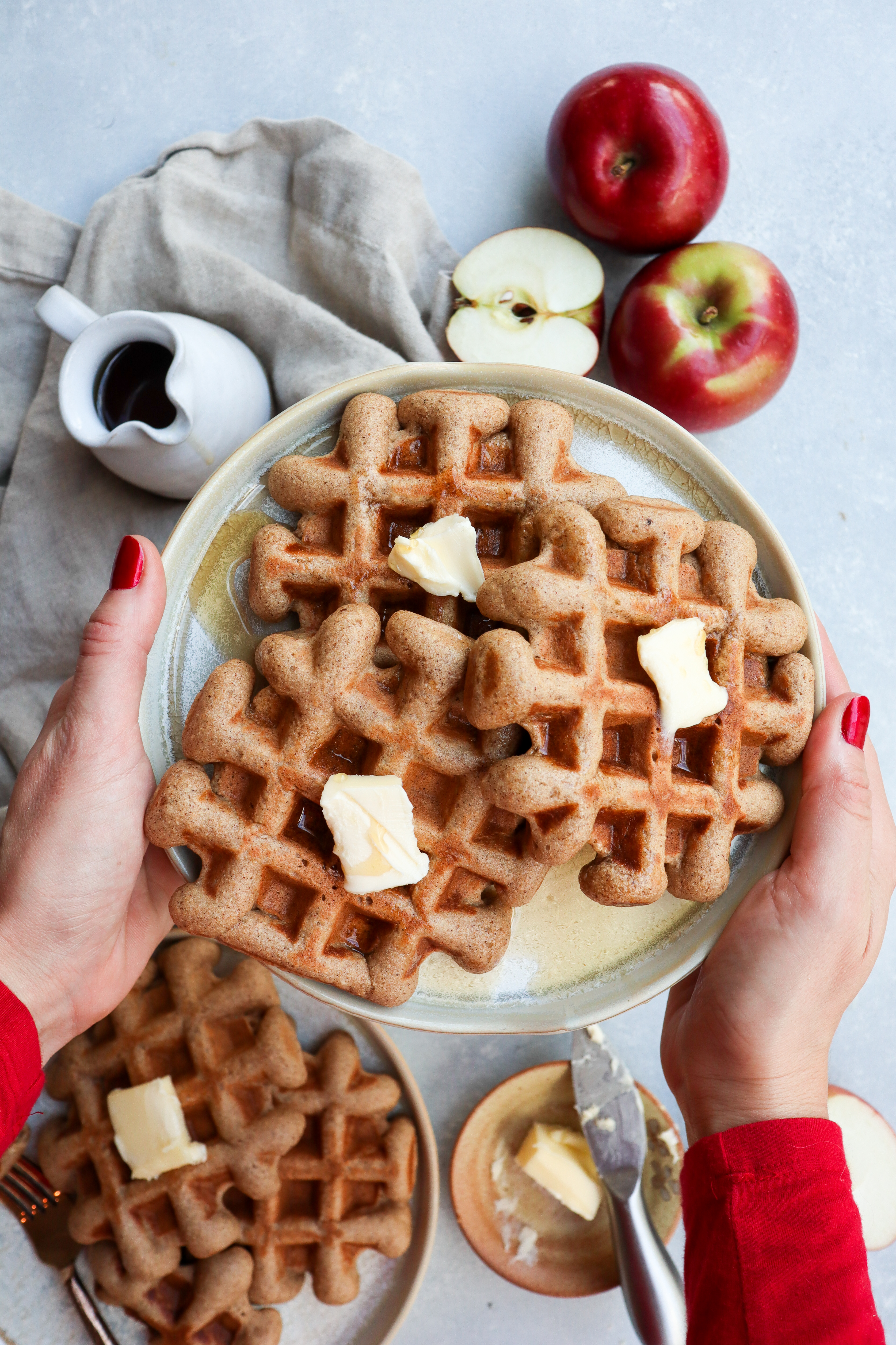 apple cider doughnut waffles // cait's plate