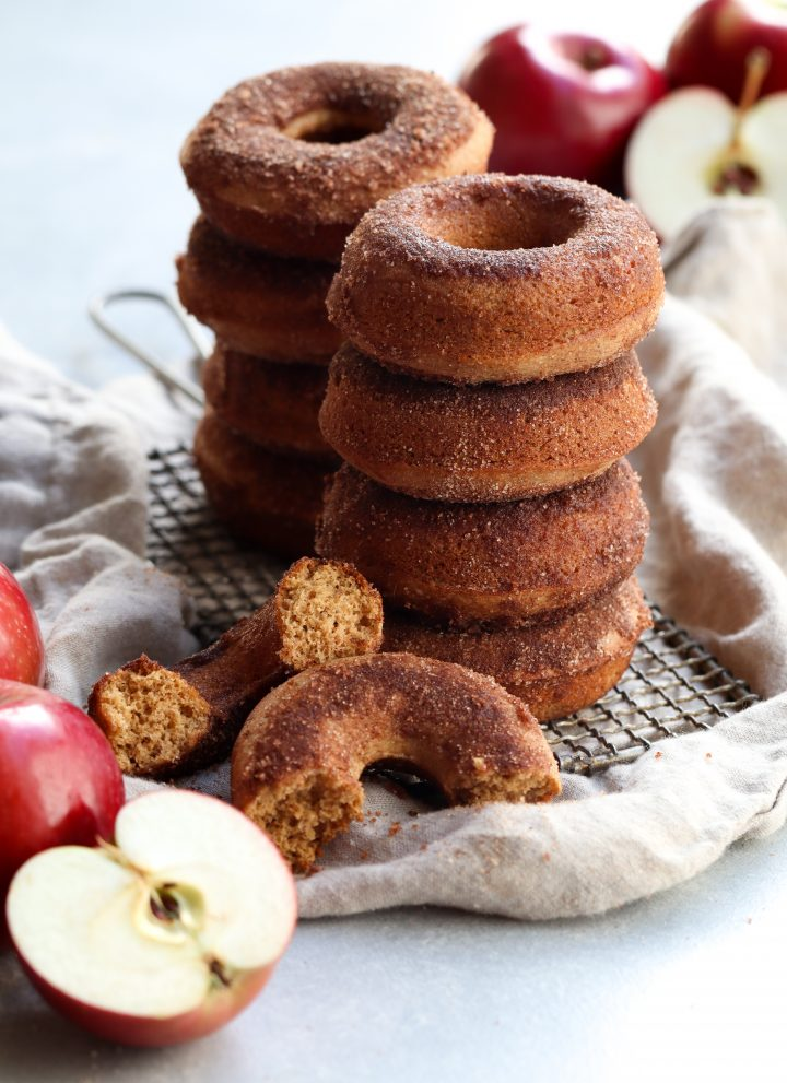 whole grain baked apple cider doughnuts // cait's plate