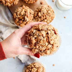bakery-style pumpkin streusel muffins // cait's plate