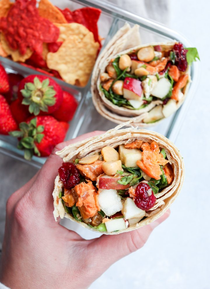 vegetarian harvest wrap // cait's plate