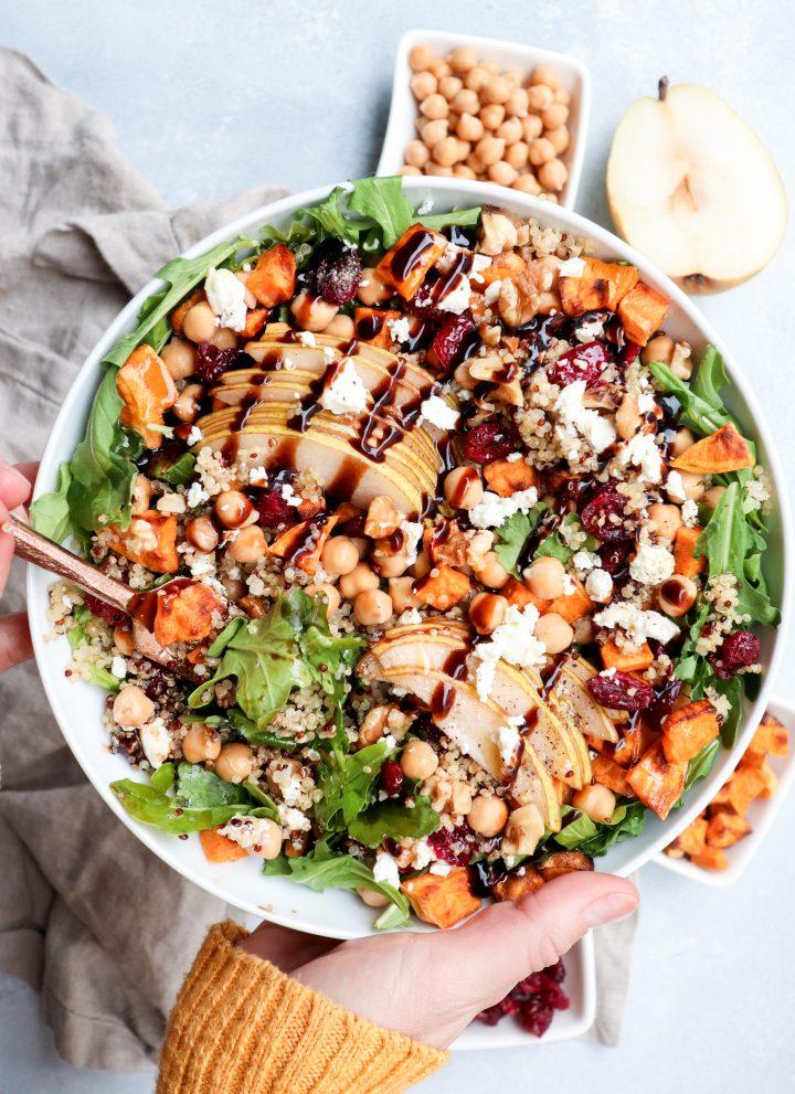 pear & quinoa autumn medley bowl // cait's plate