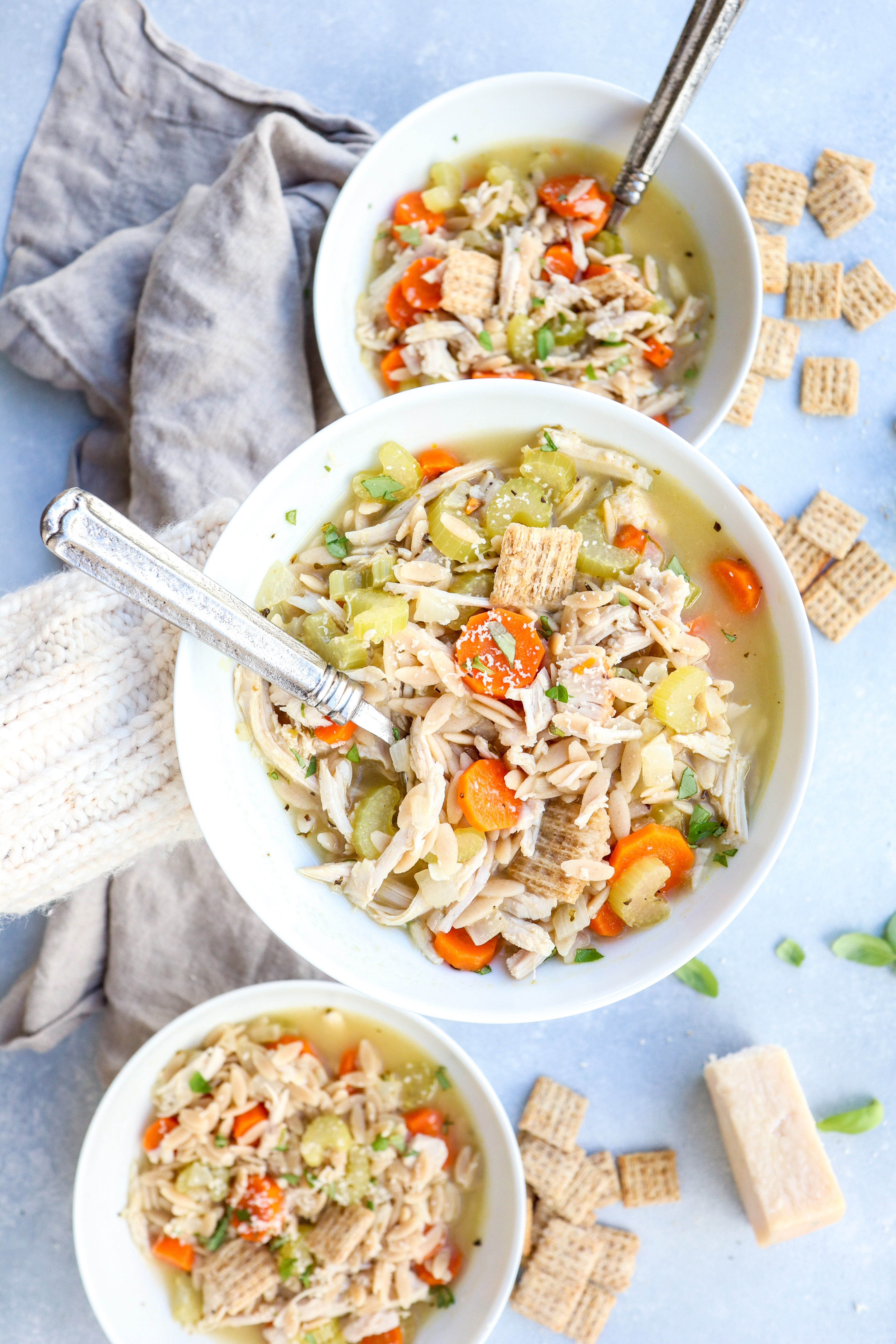 turkey and orzo soup // cait's plate