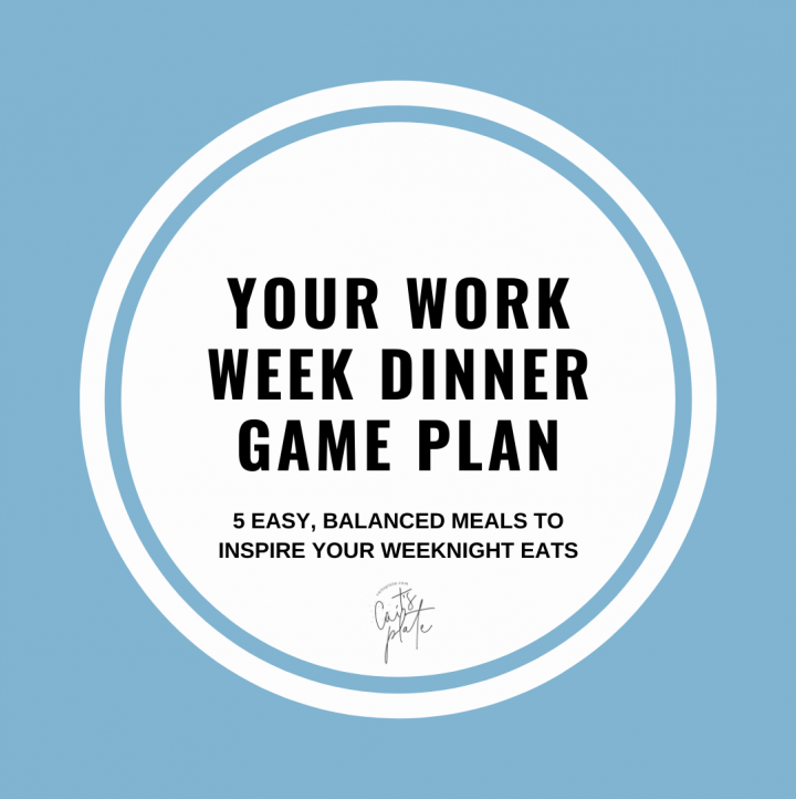 your work week dinner game plan // cait's plate