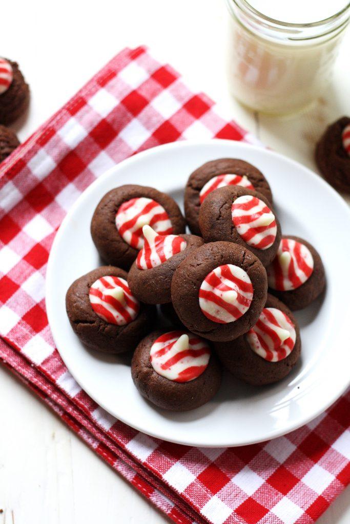 whole grain mint kiss cookies // cait's plate