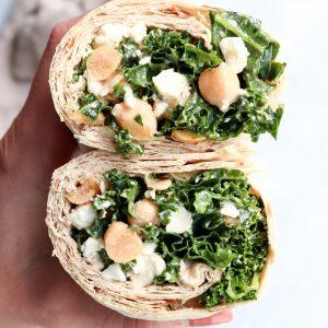 chickpea kale caesar wrap // cait's plate