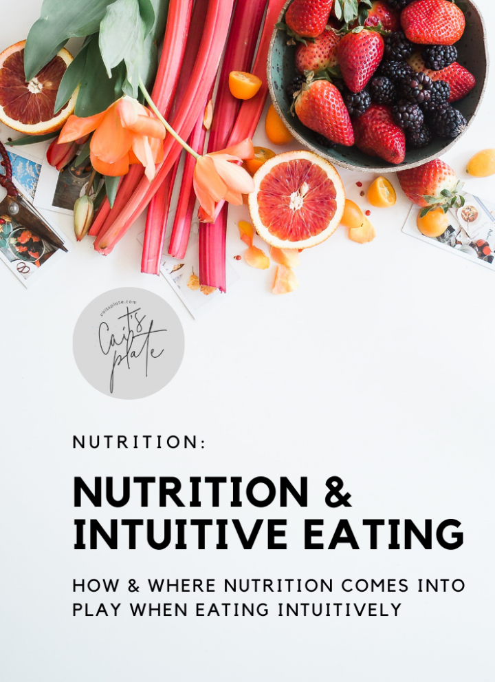 nutrition & intuitive eating // cait's plate
