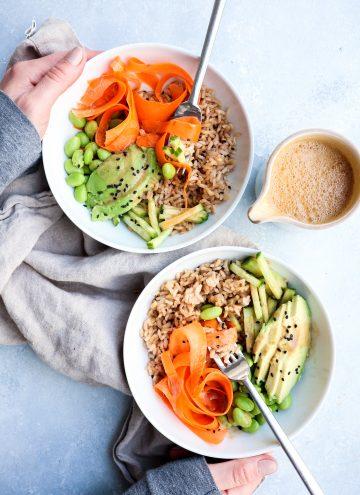 veggie sushi grain bowl // cait's plate