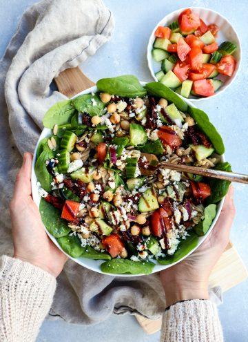 mediterranean orzo salad // cait's plate