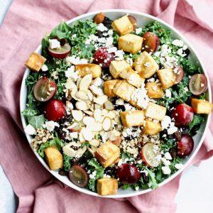 hearty kale & quinoa salad // cait's plate