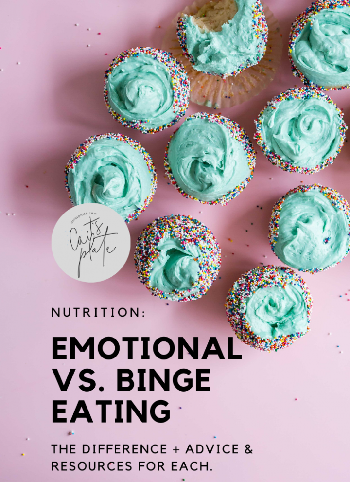 emotional vs. binge eating // cait's plate