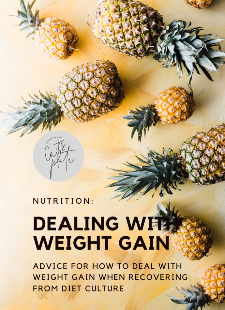 dealing with weight gain // cait's plate