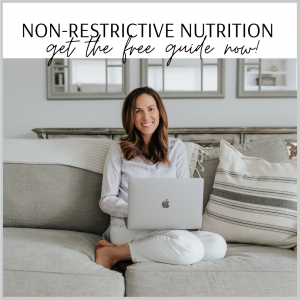 cait's plate non-restrictive nutrition guide