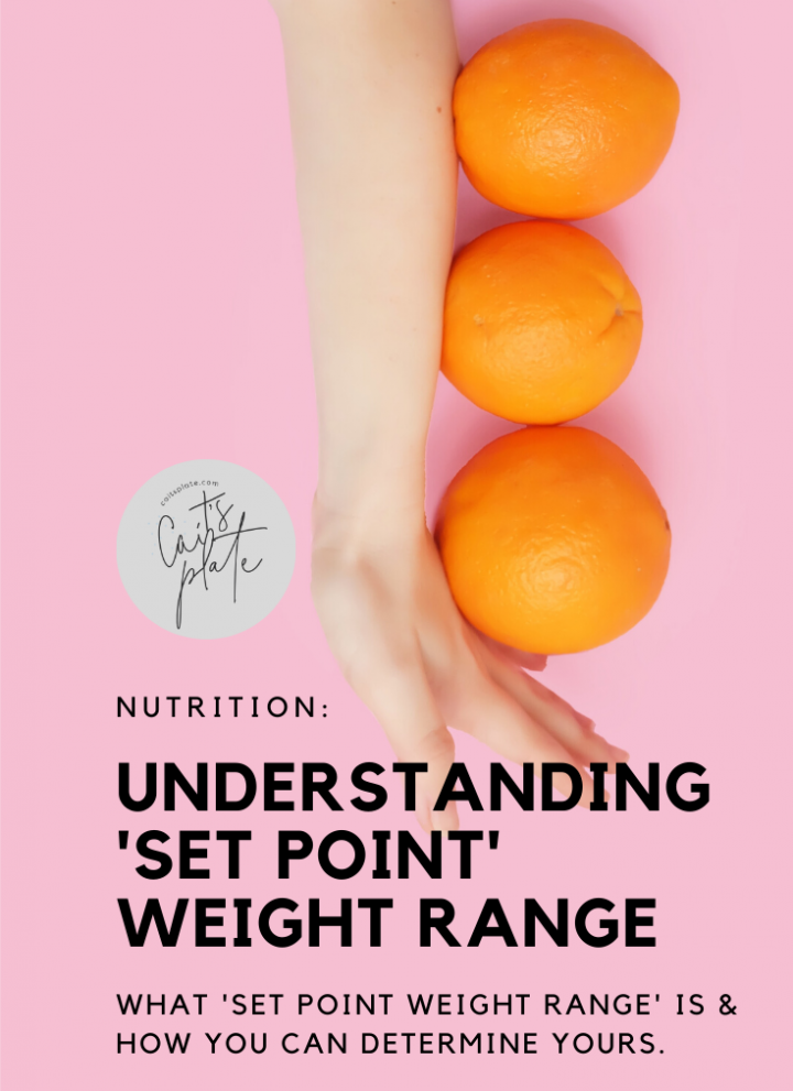 understanding your 'set point' weight range // cait's plate