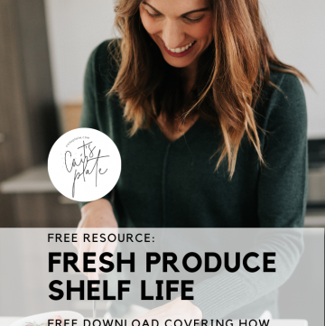 free resource: fresh produce shelf life // cait's plate