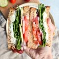 easy greek salad sandwich // cait's plate