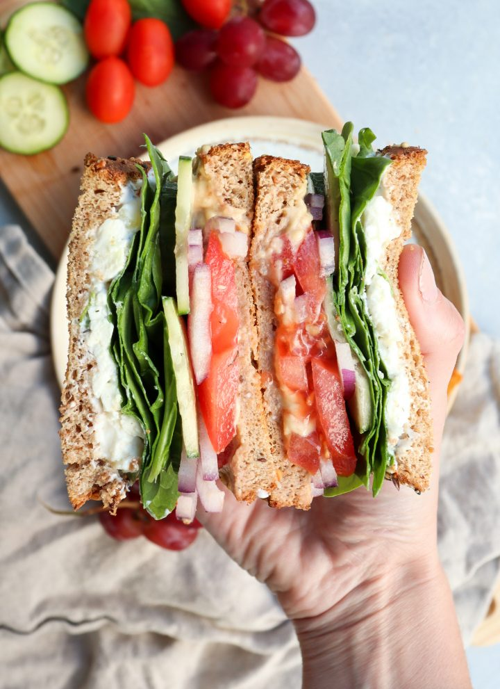 easy greek salad sandwich // cait's plate