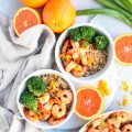 honey orange glazed skillet shrimp // cait's plate