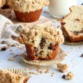 bakery style chocolate chip crumb muffins // cait's plate