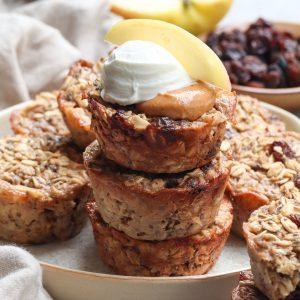 cinnamon apple raisin oatmeal cups // cait's plate