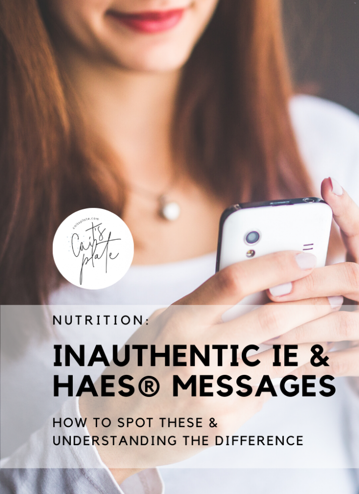 how to spot inauthentic intuitive eating & health at every size® messages // cait's plate