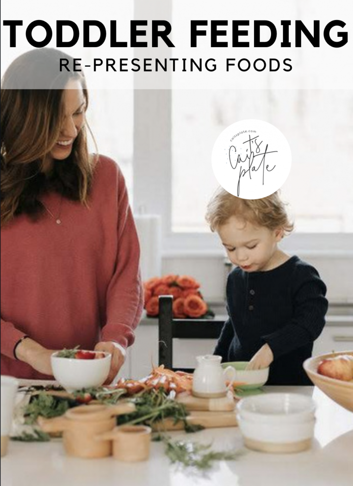 toddler feeding: re-presenting foods // cait's plate